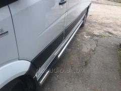 Боковые трубы (2 шт., нерж.) d70, Короткая база Mercedes Sprinter (2006+/2013+)