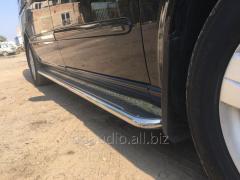 Боковые площадки Premium (2 шт., нерж.) d60, Длинная база Mercedes Vito W639 (2004-2015)