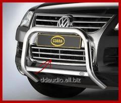 Решетка переднего бампера (нерж) 2008-2010 Volkswagen Touareg (2002-2010)