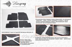 Резиновые коврики (4 шт, Stingray) Budget - с запахом резины Dacia Logan I (2005-2008)