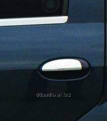 Накладки на ручки (4 шт., нерж.) Carmos - Турецкая сталь Dacia Logan II (2008-2013)