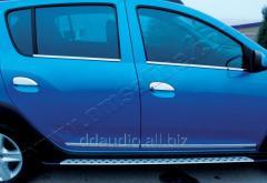 Накладки на ручки (4 шт., нерж.) Carmos - Турецкая сталь Dacia Logan III (2013+)