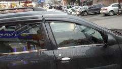 Наружняя окантовка стекол (4 шт, нерж.) Carmos - Итальянская нержавейка Dacia Logan MCV (2008-2014)