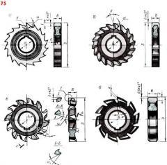 Фрезы 3-х сторонние дисковые от 50мм до 230мм