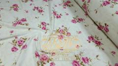 Розовая роза, фланель (Метр пог. ткани (220 см))
