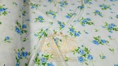 Голубая роза, фланель (Полуторный на резин.)
