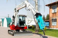 Pass the Takeuchi TB180FR excavator