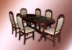 Lunch LEADER group. Dining room furniture wooden.