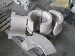 Fire-resistant Shaped products. Products are