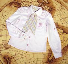 Блузы для девочек из натуральных тканей оптом ТМ