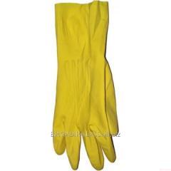 Перчатки резиновые хозяйственные (Latexs) M уп. 12 пар. ,Модель  P-06-2