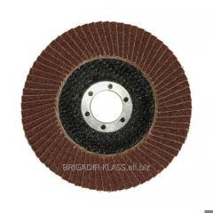 Круг лепестковый торцевой Ø125 P80 ,Модель  КЛТ-01-04