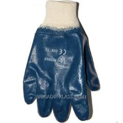 Перчатки нитрил синий тв. манжет уп. 12 пар. ,Модель  PV-21-1