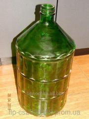Large bottle of glass green 22 l III-58 twist with