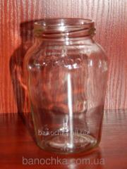 Glass jar of 480 ml with a mouth a twist of 66 mm
