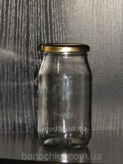 Glass jar of 415 ml with a mouth a twist of 63 mm