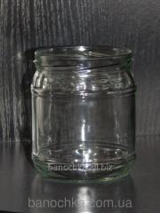 Glass jar of 420 ml with a mouth a twist of 82 mm