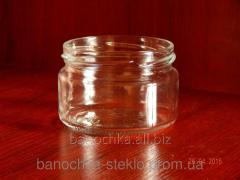 Glass jar of 250 ml with a mouth a twist of 82 mm