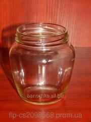 Glass jar of 550 ml with a mouth a twist of 82 mm