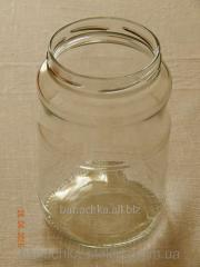 Glass jar of 1,7 l with the WIDE mouth a twist of