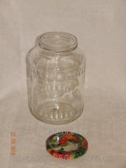 Glass jar of 1,5 l with a mouth a twist of 82 mm