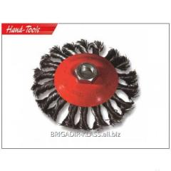 Щетка конусная плетеная пров. 125 mm ,Модель  028-40