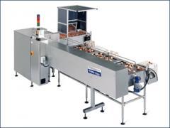 Equipment for sorting of VEGA 16 eggs