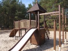 Children's hills for playgrounds. High-class