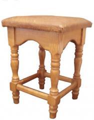 Табурет точеный, мягкий. Мебель бытовая.