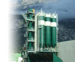 Бетоносмесительный завод вертикального типа для производства товарного бетона и ЖБИ
