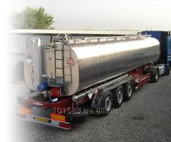 Trailers with the cistern for the transportation