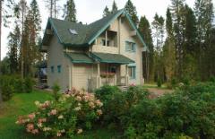 Дома каркасные деревянные из клееного бруса B-003