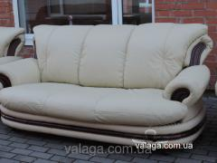 Soft leather sofa of PALERMO