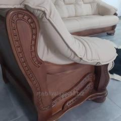 Кожаная мебель Alfa I на дубе . Мягкий