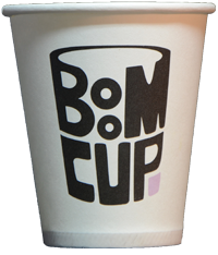 Disposable paper cup of 175 ml