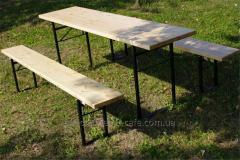 Комплект мебели ДЕСАНТ из натурального дерева сосны