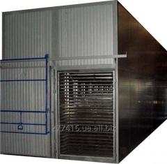 Industrial convection drying chamber for berries,