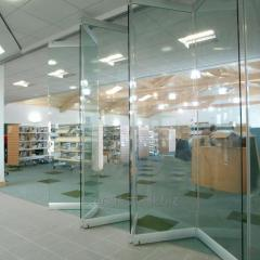 Раздвижная гармошка из стекла