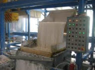 Lines for production of plaster blocks