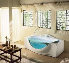 Bathtubs are acrylic rectangular