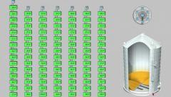 Cистема контроля температуры зерна в силосах