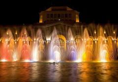 Light-musical fountains