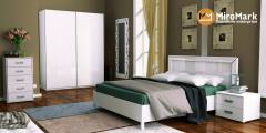 Белла/Bella Спальня,  MiroMark,   глянець білий,