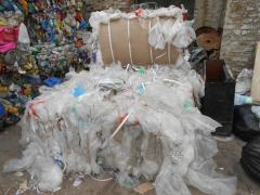 Waste of polymers of software, PE, PND, PVD, HDPE