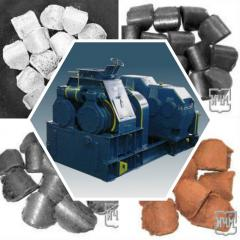 Roller press WSP-22 briquetting of molybdenum