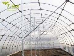 Arch greenhouses and hotbeds