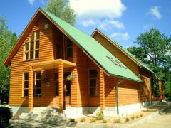 Строительство дома из сип-панелей и клееного бруса