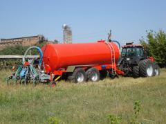 The tank for water and the liquid organic VNTs-20 fertilizers, Kobzarenk's Plan