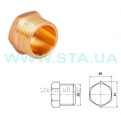 Cap (stopper) of brass 25 mm carving external