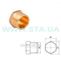 Caps (stopper) brass 15 mm carving external